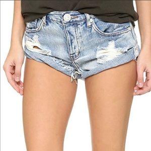 One Teaspoon Hendrix Wash Bandit Jean Shorts (29)